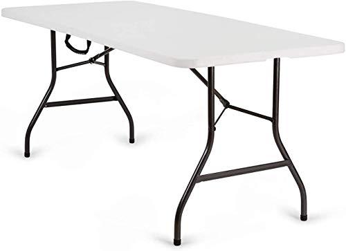 Nestling Tavolo Pieghevole da Giardino Bianco Perfetto Come Tavolo da Campeggio, da Buffet, da...