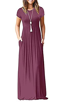 ♥【Soft Material】: 95% Rayon, 5% Spandex. Material is soft, flowy, lightweight, soft and stretchy, the print is vibrant ♥【Features】:Casual Style,Two Side Pockets,Long Sleeves,Round Neck,Floor Length,Elastic at Waist,Maxi Dresses.Stretchy,Soft and Comf...