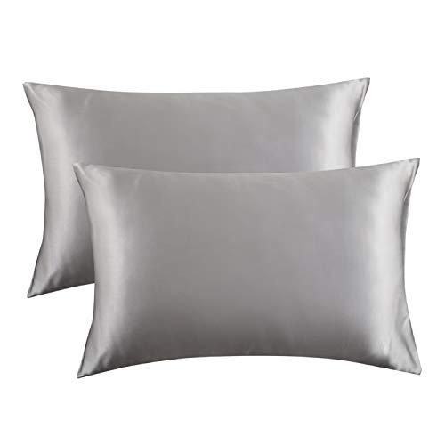 Bedsure Satin Pillowcase for Hair and Skin Silk Pillowcase 2...