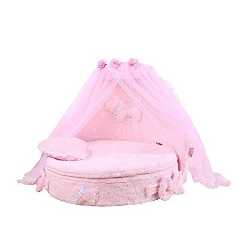 Base del Cane, Colore Rosa della Principessa del Merletto di Stile Morbido Piccolo Caldo Comodo sof...