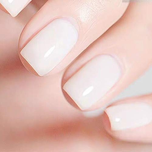 MEMEDA Nail Gel Polish Spring Summer Nail Art Colors Nude Milky UV LED Soak Off Clear Nail Gel Kit…