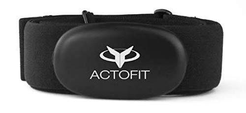 Actofit Elasticized Fabric Heart Rate Monitoring Chest Strap (Black)