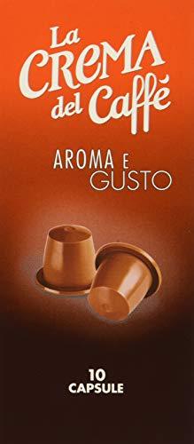 La Crema del Caffè - Aroma e Gusto (12 Astucci da 10 Capsule, Totale 120 Capsule), Compatibili Nespresso