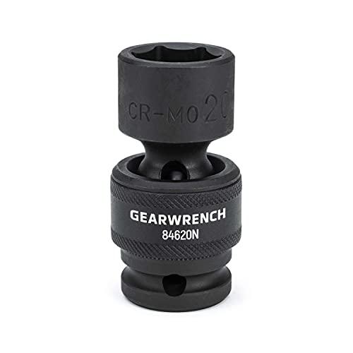 GEARWRENCH 1/2' Drive Standard Universal Impact Metric Socket 20mm, 6 Point - 84620N