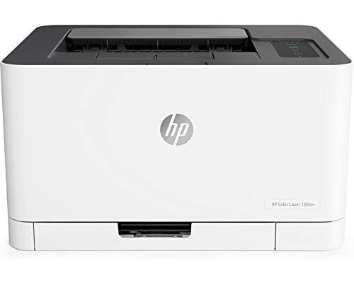 HP Color Laser 150nw 4ZB95A, Stampante A4 a Colori, Singola Funzione, Wi-Fi, Wi-Fi Direct, Ethernet,...