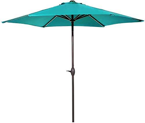 Abba Patio 9ft Patio Umbrella Outdoor Umbrella Patio Market Table Umbrella with Push Button Tilt and Crank for Garden, Lawn, Deck, Backyard& Pool, Blue
