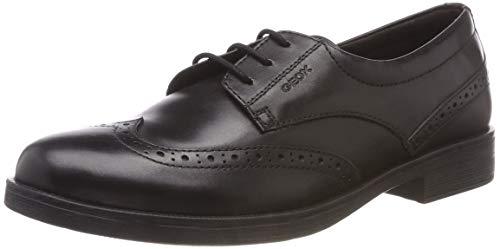 Geox JR Agata D, Zapato de Uniforme Escolar, Negro, 30 EU