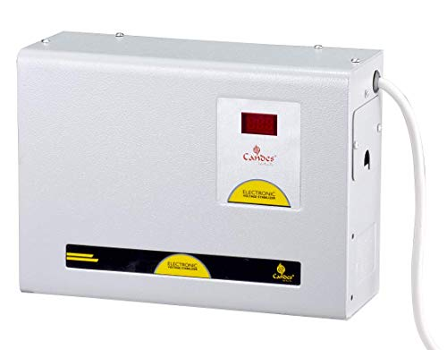Candes Crystal 4kVA for 1.5 Ton / 1 Ton AC (130V to 285V) Voltage Stabilizer with Wide Working Range...
