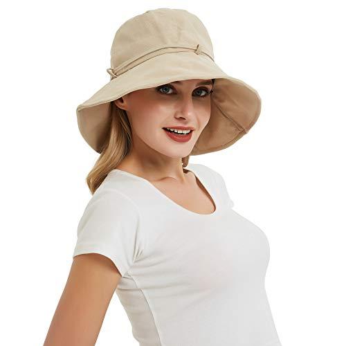 EINSKEY Sonnenhut Damen Faltbar UV Schutz Fischerhut Breite Krempe Safari Bucket Hat