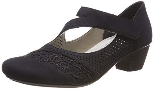 Rieker 41743-14, Zapatos de Tacón Mujer, Blau (Pazifik 14), 38 EU