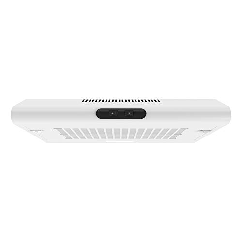 Prodex PXVH60WH Visor Cooker Hood, Extractor Fan, 60cm Wide, Push Button Control, White