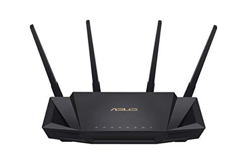ASUS RT-AX58U Router Mesh Wifi 6 AX3000 Dual-band, Adatto per lavorare da casa, Aimesh, Tecnologia OFDMA e MU-MIMO, RangeBoost di gioco, Trend Micro AiProtection Pro security, QoS adattivo