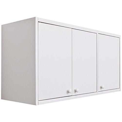 吊り戸棚 幅90cm キッチン 上収納 (ホワイト)