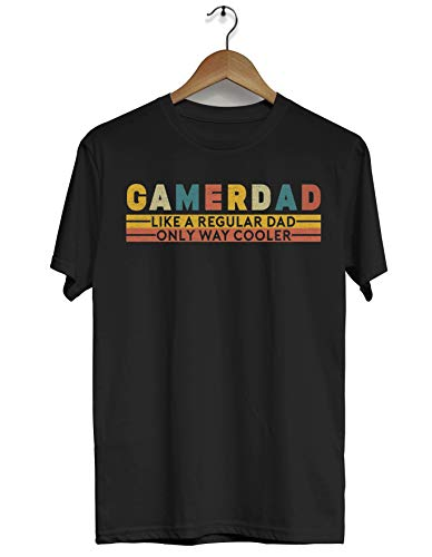 LORENZO SERRANI76 Gamer Dad Like A Regular Dad Only Way Cooler Father's Day Gamer Shirt for Men...