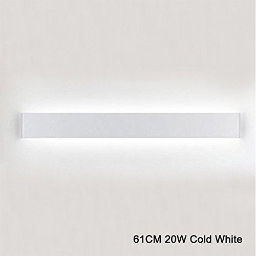 K-Bright Applique da Parete Interni LED,Lunga luce a parete,61CM,20W Pari a 75W Luce,IP44,6000K bianco freddo,120 Gradi Applique a LED Lampada da Parete