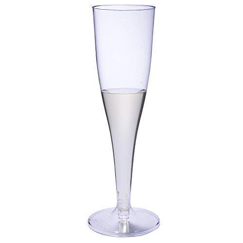 Blue River, 50 x Bicchieri in plastica usa e getta per Champagne
