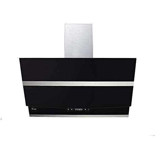 KKT KOLBE Cappa aspirante da cucina / 80 cm/acciaio inox/vetro nero/WIFI/extra silenzioso / 4 passi/illuminazione LED RGBW/tasti sensore TouchSelect / HERMES807SM
