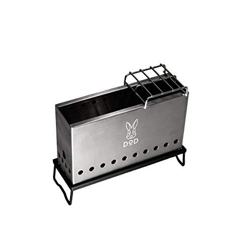 DOD(ディーオーディー) ぷちもえファイヤー 2次燃焼 の見える コンパクト 焚き火台 ゴトク 耐熱テーブル 収...