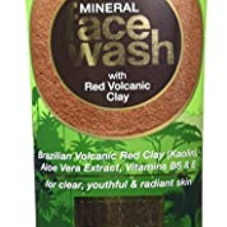 WOW Amazon Rainforest Collection – Mineral Face Wash with Red Volcanic Clay – No Parabens, Sulphate, Silicones and Color, 100 ml