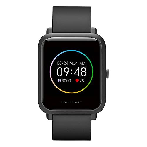 Amazfit A1823 Bip S Lite Smartwatch für Herren Damen 1.28 Zoll Always-on Farbdisplay Fitness Tracker mit 30 Tage Akku, 150 Zifferblätter, 5 ATM wasserdicht, Herzfrequenz, Schlafmonitor, Musiksteuerung