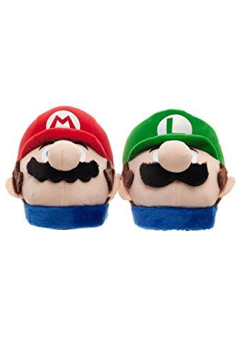 Mario & Luigi - Zapatillas 3D de felpa para adulto