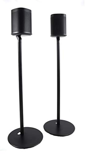 ynVISION Floor Stand for Sonos One, One SL and Play:1 Speaker   2 Pack   YN-ONE Pair (Black)