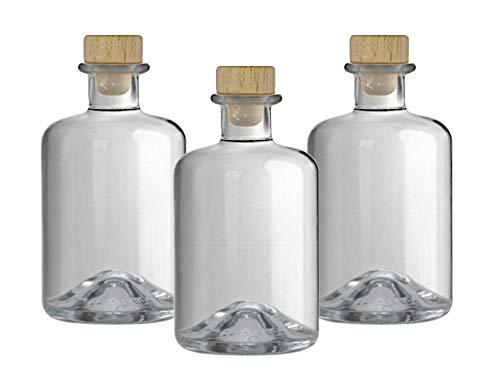 9x Apothekerflasche 350 ml Glas Flaschen leer Essigflaschen Ölflaschen Schnapsflaschen...