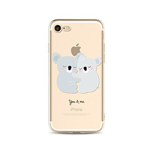 MMY - Carcasa de TPU para iPhone 6, 6s - Protección ultradelgada - Diseño koala, compatible con iphone6,6s