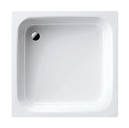 Kaldewei 01501 1 Stahl-Duschwanne Sanidusch, 90 x 90 x 14 cm, 90 x 90 cm