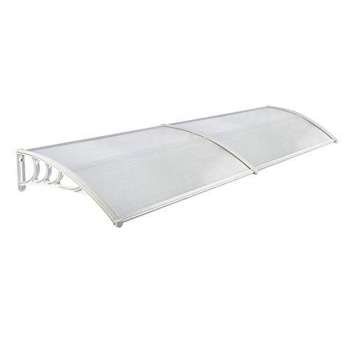 MCTECH 300 x 90 cm Marquesina Toldo para terrazas Tejadillo de protección para puertas y ventanas, Blanco