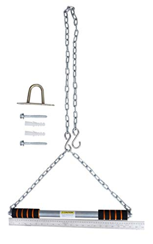 ALLYSON FITNESS Steel Pull Up/Chin up Bar, Heavy Duty Rod with Thick Chain Hanging Rod Pull Up Bar (Thick Chain)