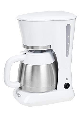 Exquisit KA 6501 we | Kaffeeautomat | Filterkaffeemaschine | Thermoskanne | Tropfstopp | Kaffeemaschine Edelstahl | 800 Watt | weiß, 1 Liter