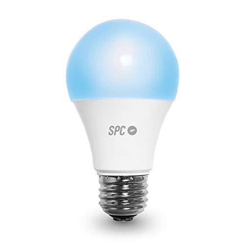 SPC Aura 1050: Bombilla LED Wi-Fi E27, 10W, 1050lm, iluminación...