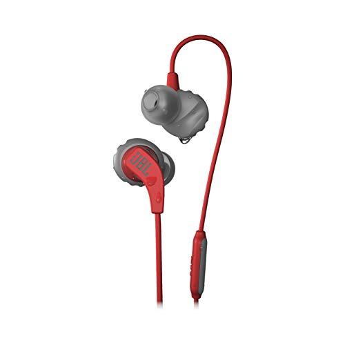JBL Endurance Run - Auriculares in-Ear Deportivos con micrófono y Mando a Distancia, Color Rojo