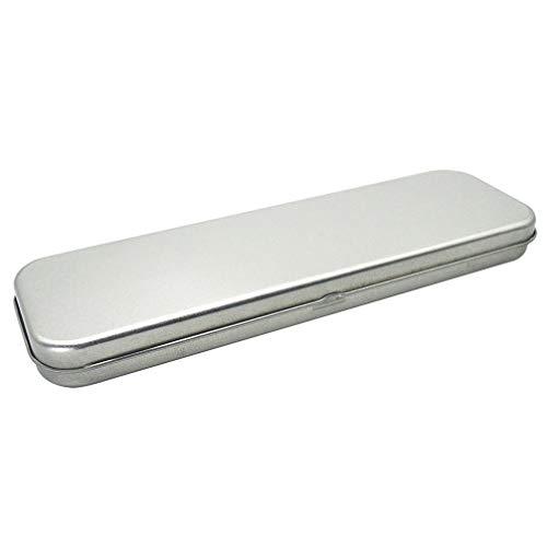 STOBOK astuccio portamatite in metallo astuccio singolo strato astuccio rettangolare porta penne per...