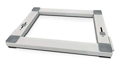Meliconi Base Wash Pro, base in metallo antivibrazione regolabile per elettrodomestici con ruote e freni laterali...