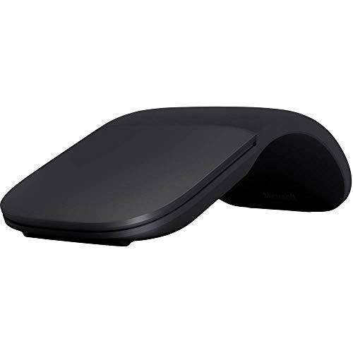 Microsoft – Souris Arc – souris Bluetooth pour PC, ordinateurs portables compatible Windows, Mac, Chrome OS (fine, légère, transportable, tactile) – Noir (ELG-00002)