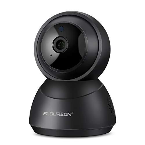 FLOUREON Telecamera IP YI Cloud Home, 1080P HD Sicurezza IP WiFi Pan/Tilt/Zoom, Supporta il rilevamento intelligente delle auto, Audio a due vie, la visione notturna, Per monitor per Neonati (Nero)