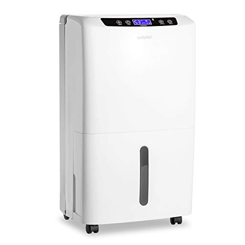 Waykar 40 Pint Dehumidifier for Home and Basements in Spaces up to 2000 Sq Ft, Auto or Manual Drain,0.66 Gallon Water Tank Capacity