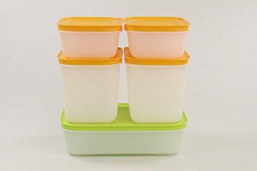 Tupperware 27960, set contenitori per congelatore, 1 l, colore: verde/bianco; 2 da 450 ml; 2 pezzi...