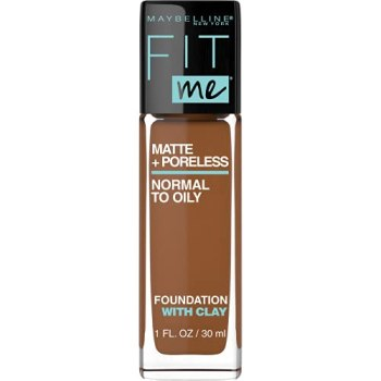 Maybelline Fit Me Matte + Poreless Liquid Foundation Makeup, Deep Golden, 1 fl. oz. Oil-Free Foundation