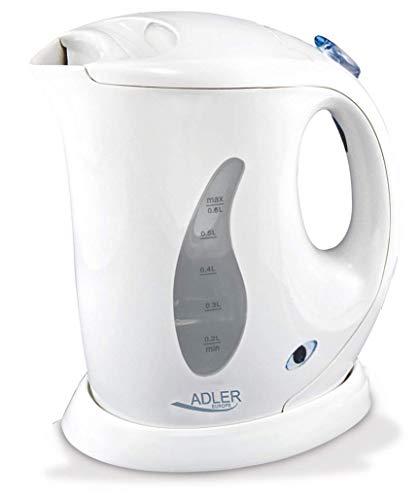 Adler AD 02 Kettle plastic 06 L, Kunststoff, Weiß, 1 - Pack