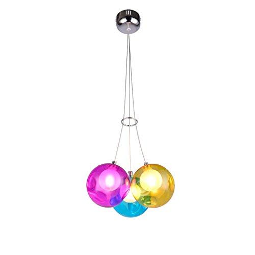 creativo soggiorno lampadario ristorante sfera di vetro a doppia camera cappa lampadario in vetro...
