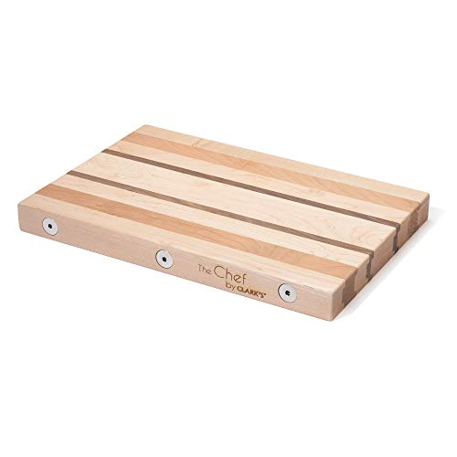 CLARK'S Glueless Modular Hardwood Cutting Board - The Chef (11 x 16.25 x 1.5 thick) | No Glue - Food Safe | Made in the USA