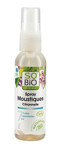 So'Bio Étic Aromathérapie Spray Moustiques Citronnelle 75 ml