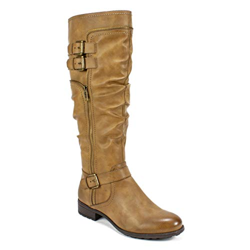 WHITE MOUNTAIN Shoes Ranger Women's Boot, MID Brown/Burnished Smooth, 6H M