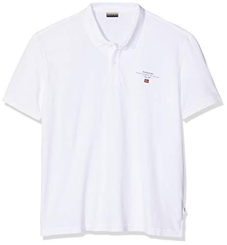 NAPAPIJRI Elbas 2 Polo, Bianco (Bright White 002), Large Uomo