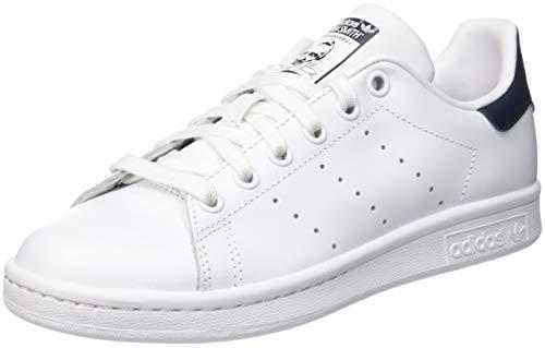 adidas Originals Stan Smith Zapatillas de Deporte Unisex adulto, Blanco /Azul, 42 EU (8 UK)