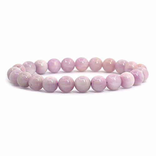 Natural Kunzite Gemstone 8mm Round Beads Stretch Bracelet 7...