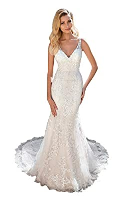 Feature: lace appliques, beads, with train, built-in bra. Please refer to the corresponding actual picture for details. Delivery: Item needs 5-7 days for processing. Ther are two shipping ways: Standard shipping usually takes 7-12 days to arrive; Exp...